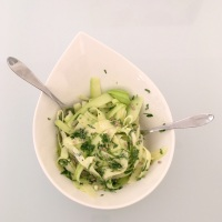 Salade de tagliatelles de courgettes au parmesan