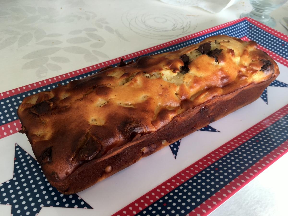 Cake très moelleux pommes et chocolat (sans beurre)