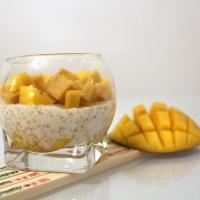 Verrines tapioca au lait de coco ananas - mangue (Indonésie)