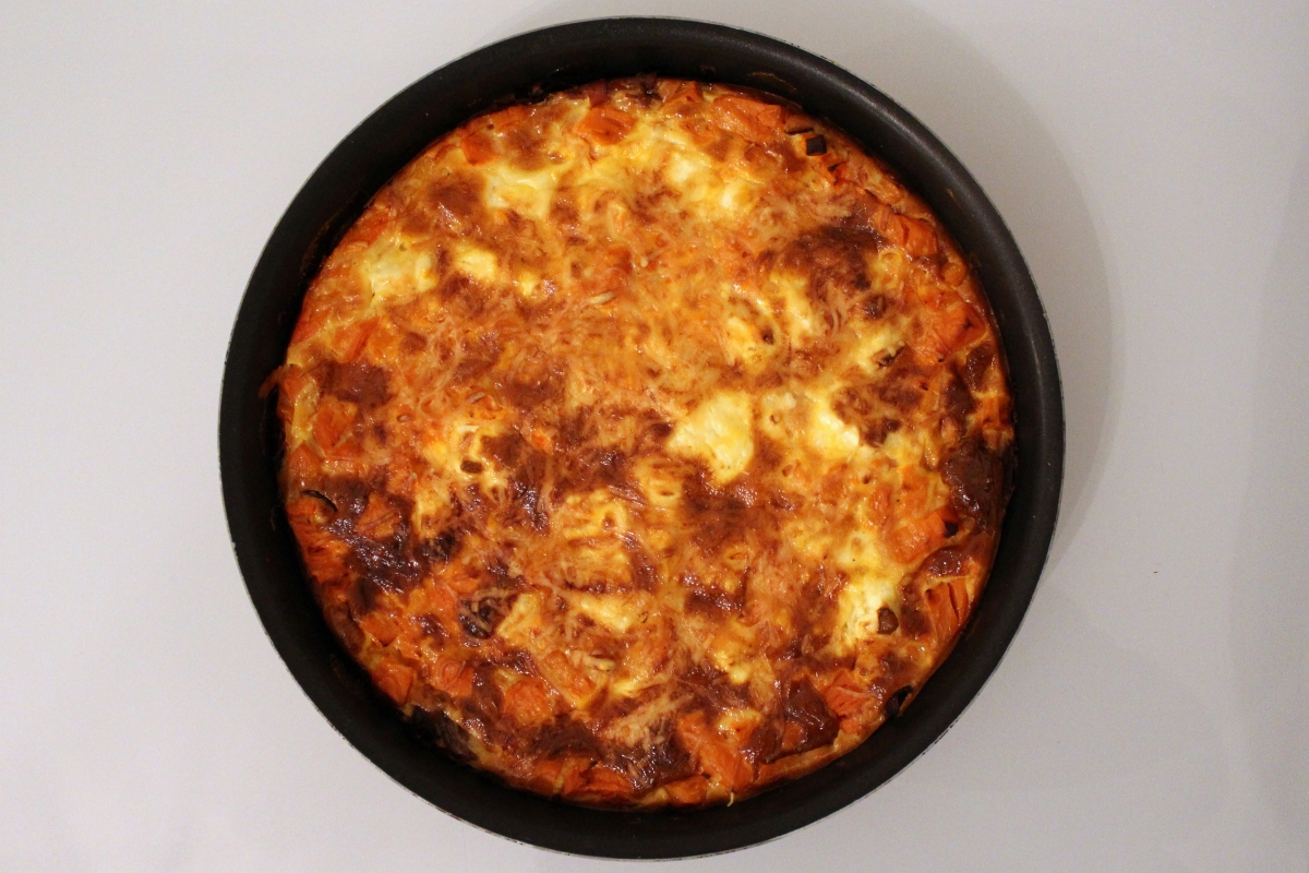 Quiche sans pâte patates douces feta