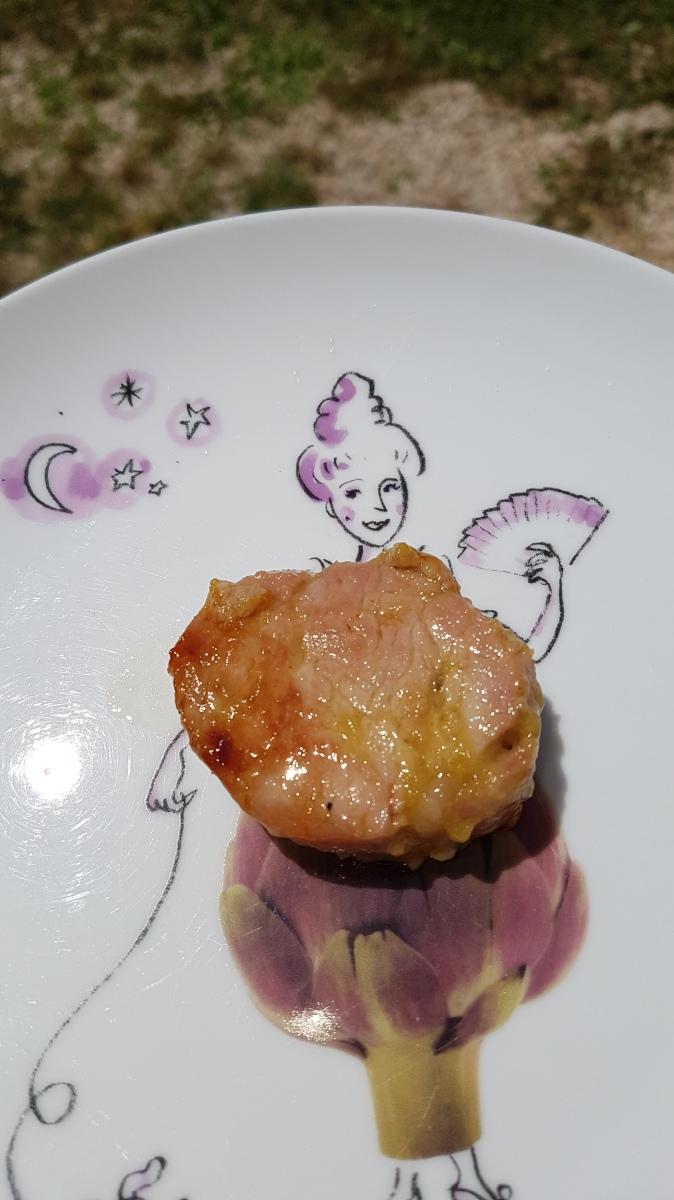 Filet mignon mariné au Pineau et miel à la plancha