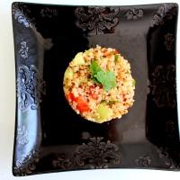 Salade quinoa coriandre façon taboulé