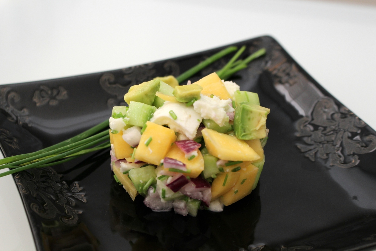 Salade exotique mangue avocat