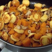 Poêlée quenelles, champignons et butternut