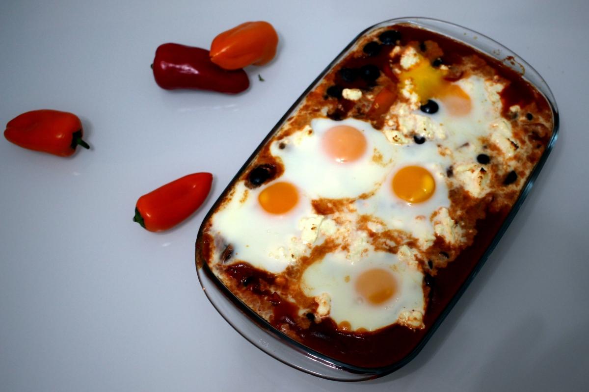 Huevos rancheros (végétarien)